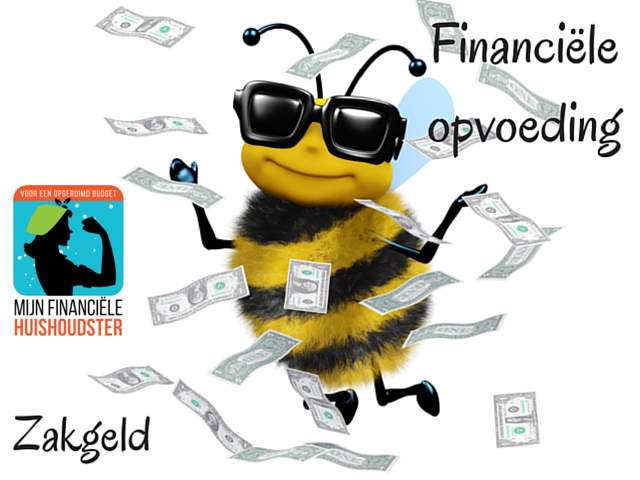 zakgeld, financiele opvoeding, mijn financiele huishoudster, www,mijnfinancielehuishoudster.nl
